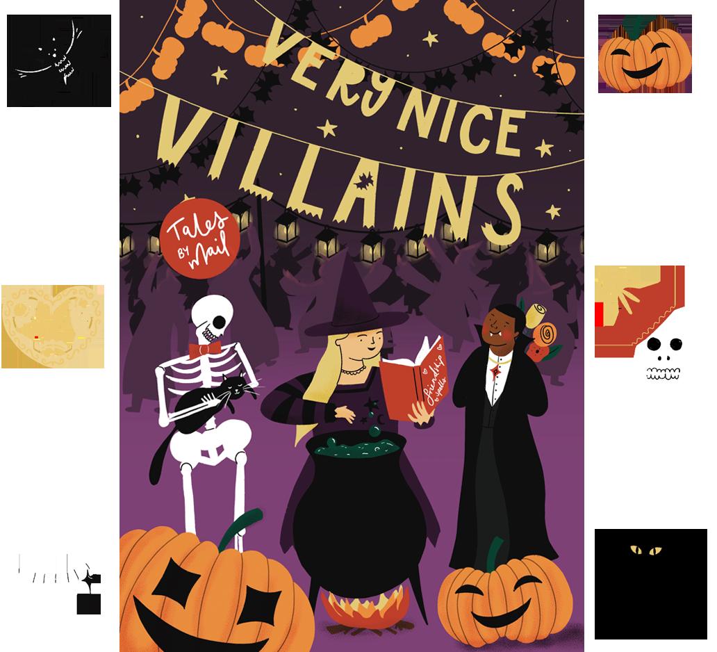 Very nice villains website theme image