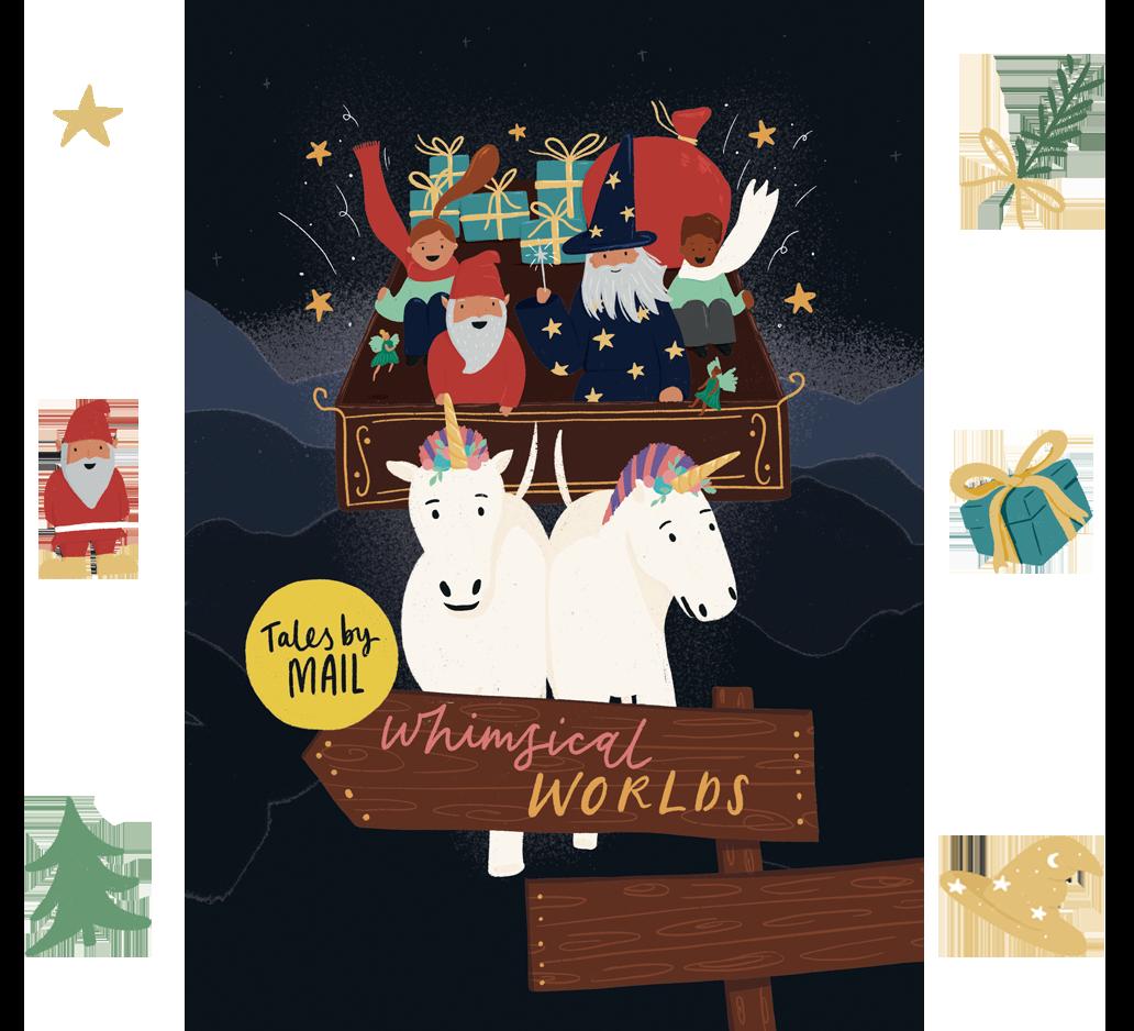 Whimsical Worlds website theme image